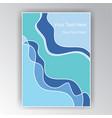 blue and quamarine turquoise simple creative vector image