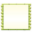 border template with green bamboo vector image vector image