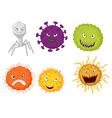 Cartoon germ colony vector image vector image