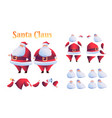 cartoon santa claus animation christmas set vector image