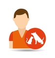 character pet training dog and vector image