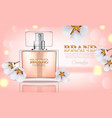 cherry blossom perfume realistic product vector image