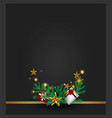 christmas gray background with christmas tree vector image