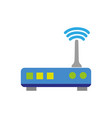 colorful router digital wifi technology network vector image vector image