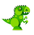 cute cartoon dinosaur on white background vector image vector image