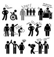 discrimination racist prejudice biased stick vector image