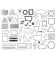 doodle shapes drawings pencil monochrome textures vector image vector image