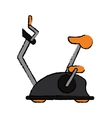 drawing bike static machine fitness gym vector image vector image