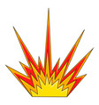 explode flash icon cartoon style vector image vector image