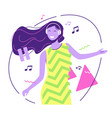 flat style a pretty smiling vector image vector image