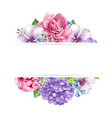floral background in watercolor style with place vector image vector image