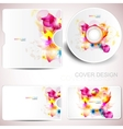 floral cd disc cover template vector image vector image