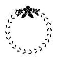 floral crown wreath emblem decoration pictogram vector image vector image