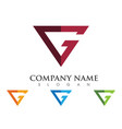 g letter logo template vector image vector image