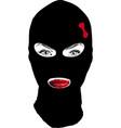 girl bandit vector image vector image