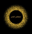 gold background with circle frame glitter vector image vector image