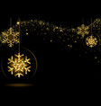 gold glowing christmas snowflakes vector image vector image