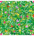 Green floral spring and summer pattern vector image vector image