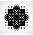 Halftone snowflake Abstract black and white design vector image vector image