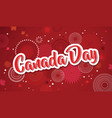 happy canada day poster 1st july vector image vector image