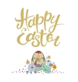 Happy Easter lettering Typographical