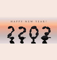 happy new year 2022 design 20 22 numbers stone vector image vector image