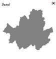 high quality map metropolitan city south korea vector image