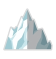 ice mountain icon vector image