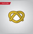 isolated pretzel flat icon cookie element vector image