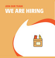 join our team busienss company pencil box we are vector image vector image