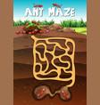 landscape design with ants underground vector image