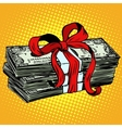 money as a gift charity and donation vector image