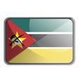 mozambique flag on white background vector image vector image