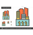 power plant line icon vector image vector image