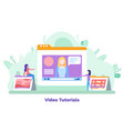 screen playing financial video tutorial vector image