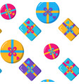 seamless pattern with gift boxes in flat style vector image vector image