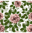 seamless pattern with pink roses beautiful vector image vector image