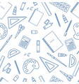 seamless stationery supplies vector image