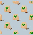 seeds seamless pattern vector image vector image