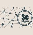 selenium chemical element vector image vector image