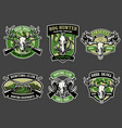 set animal hunting badge collection vector image vector image