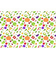 set fresh vegetables collection seamless pattern vector image