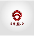 shield - stylish letter s logo template vector image