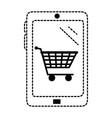 smartphone with market online app vector image
