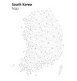 south korea in blockchain technology network style vector image vector image