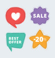 special offer labels set vector image