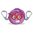 super hero red cabbage character cartoon vector image