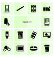 tablet icons vector image vector image