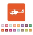 The helicopter icon Copter symbol Flat vector image