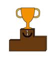 trophy flat vector image vector image